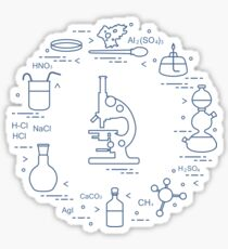 Chemistry scientific, education elements. Sticker