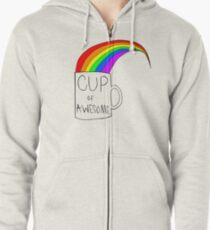 Cup Of Awesome Zipped Hoodie