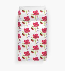 Poppies and Butterflies Duvet Cover