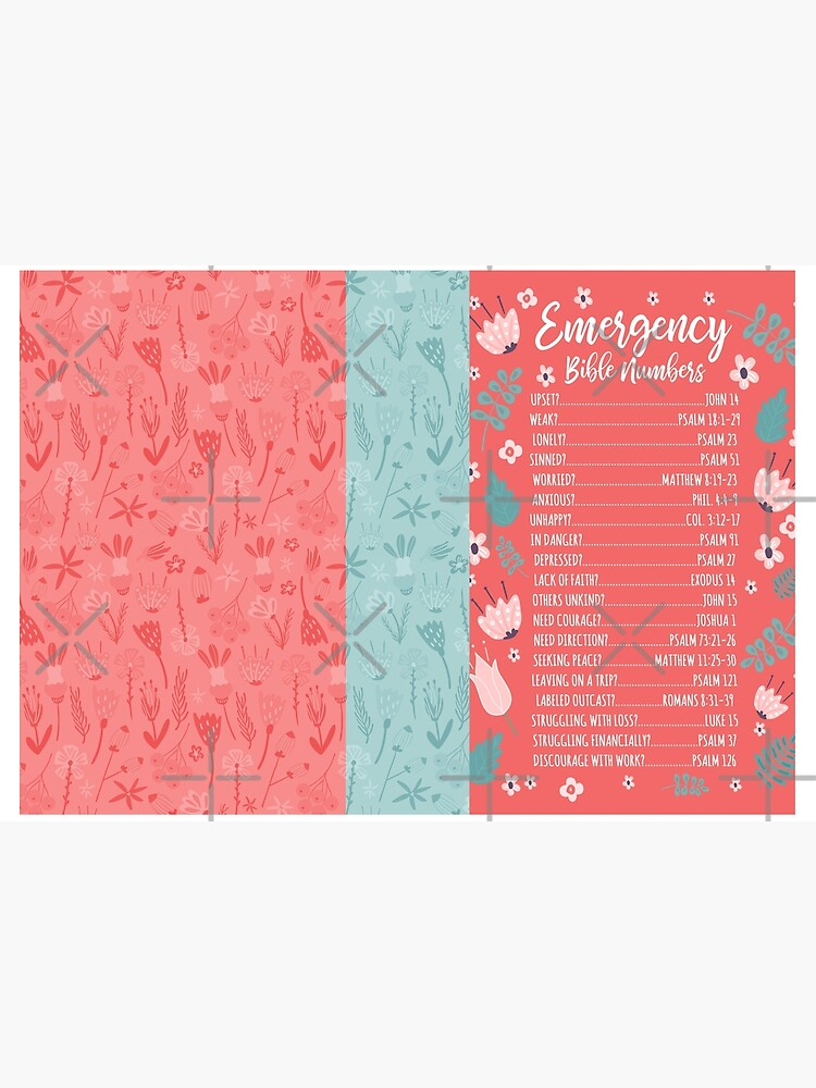 EMERGENCY BIBLE NUMBERS (FLORAL) by JenielsonDesign