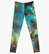 Green Galaxy Leggings