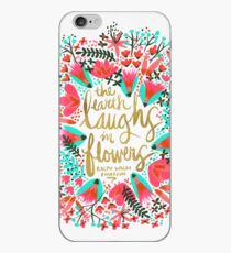 The Earth Laughs in Flowers – Pink & Gold iPhone Case