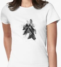 Inked Mountain Crest Women's Fitted T-Shirt