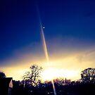 BLUE SUNSET  by JoAnnHayden