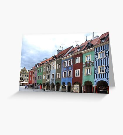 Colorful houses in Poznan - Poland Greeting Card