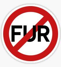 No Fur + Vegetarian Food Vegetables Sticker