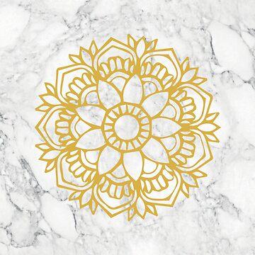 Marble and Gold Mandala by aterkaderk