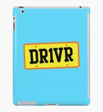 DR1VER (DRIVER) driving licence plate iPad Case/Skin