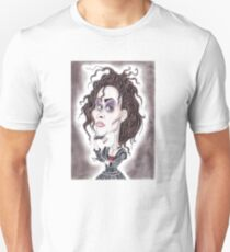 Victorian Gothic Dark Caricature Drawing T-Shirt