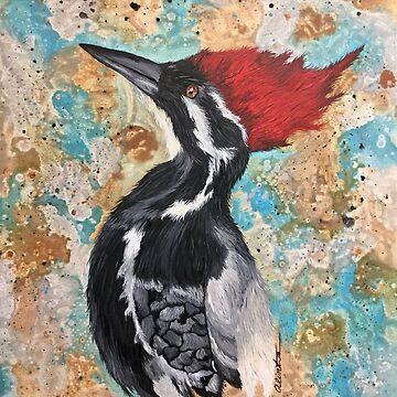 Great Red Headed Woodpecker  by Alinton12