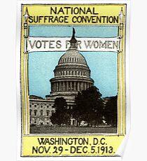 1913 Stimmen für Frauen Poster