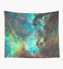 Green Galaxy Wall Tapestry