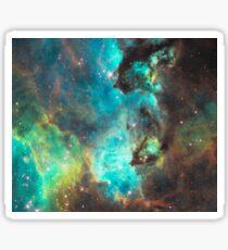 Green Galaxy Sticker