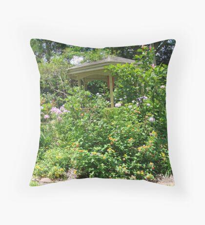 Gazebo at June's Garden, Bayou George, FL Throw Pillow