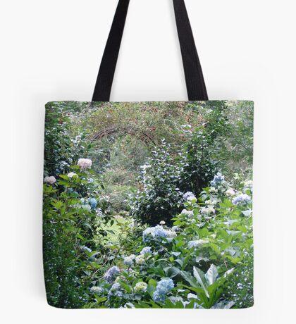 Hydrangea path - June's Garden Tote Bag