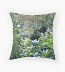 Hydrangea path - June's Garden Throw Pillow