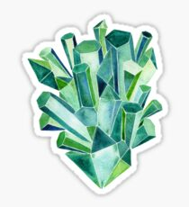 Emerald Watercolor Sticker