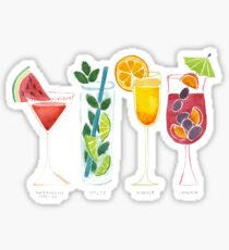 Summer Cocktails Sticker