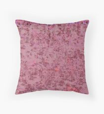Mauve and Rose Colored Pattern Throw Pillow