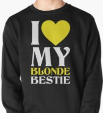 I Love My Blonde Bestie - I Love My Brunette Bestie Couples Design Pullover