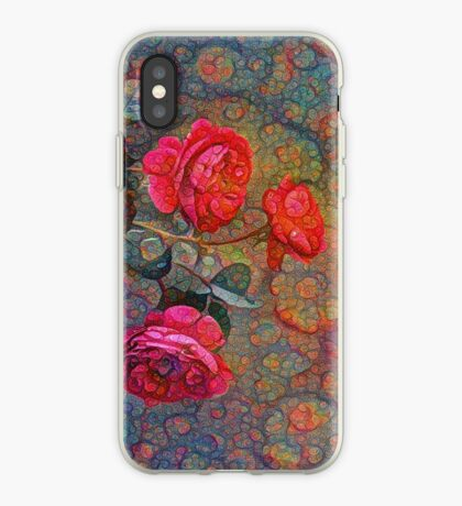 Roses #DeepDreamed iPhone Case