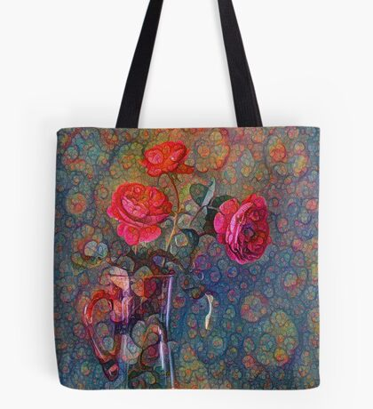 Roses #DeepDreamed Tote Bag