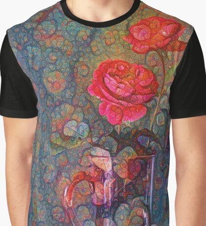 Roses #DeepDreamed Graphic T-Shirt