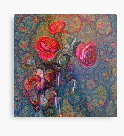 Roses #DeepDreamed Metal Print