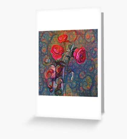 Roses #DeepDreamed Greeting Card
