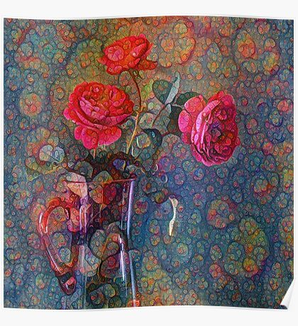Roses #DeepDreamed Poster