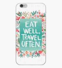 Eat Well, Travel Often – Bouquet iPhone-Hülle & Cover