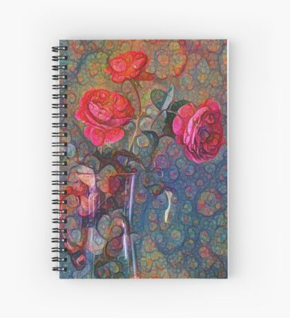 Roses #DeepDreamed Spiral Notebook