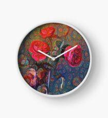 Roses #DeepDreamed Clock