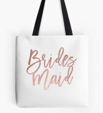 Faux Rose Gold Bräute Maid Tote Bag