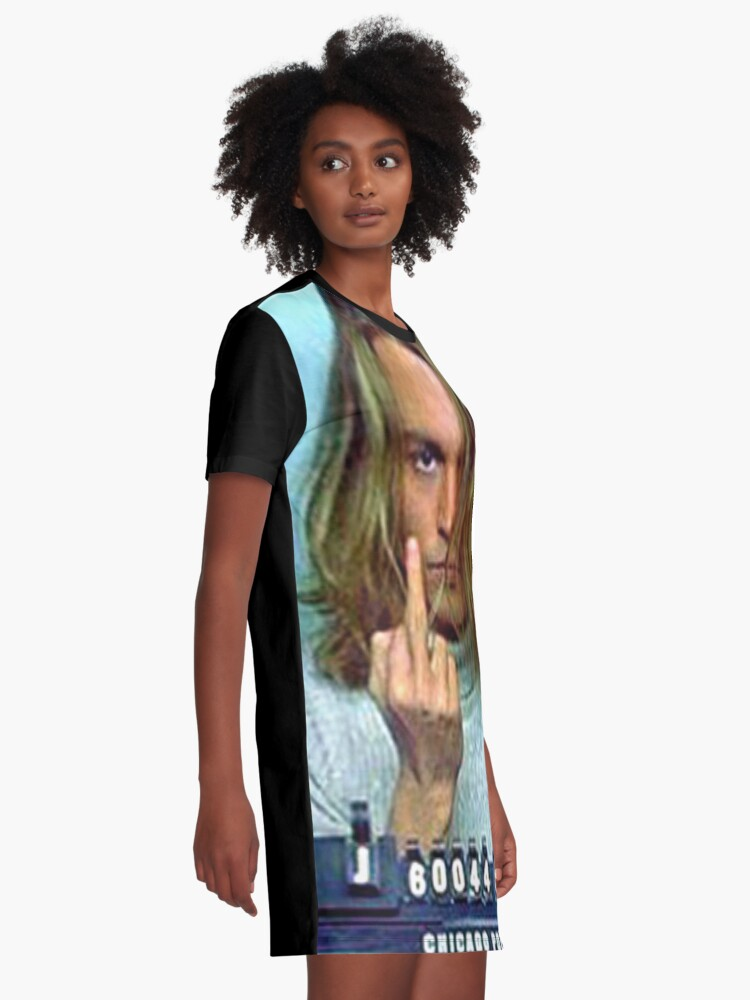 Alternate view of Caught Graphic T-Shirt Dress