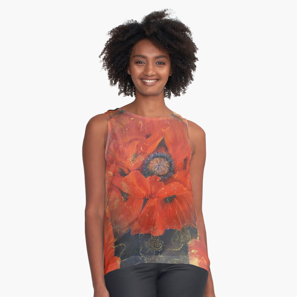 POPPIES Contrast Tank Front