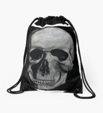 No Skin and Bones Drawstring Bag