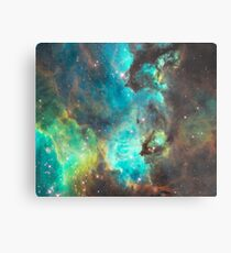Green Galaxy Metal Print
