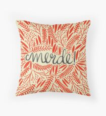 Pardon My French – Red & Cream Throw Pillow