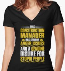 Construction Manager Construction Supervisor Gift Women's Fitted V-Neck T-Shirt
