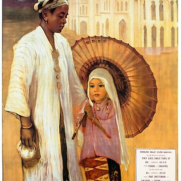 Picturesque Malaya Restored Vintage Travel Poster by vintagetreasure