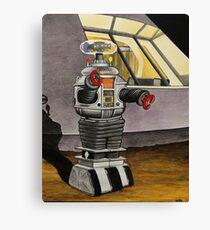 LIS ROBOT ON GUARD DUTY Canvas Print