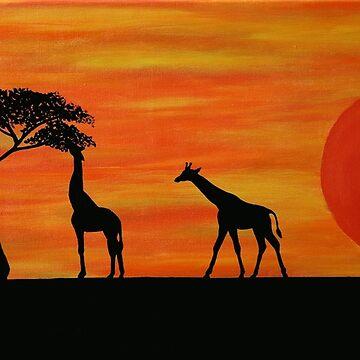 Savannah Dreaming: Giraffes by Kezzarama