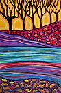 Pastels - Landscape Layers by Georgie Sharp