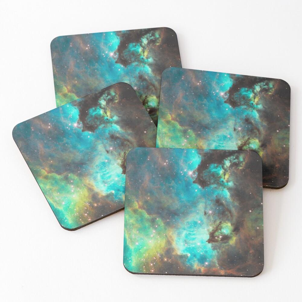 Green Galaxy Coasters (Set of 4)