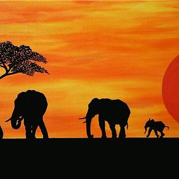 Savannah Dreaming: Elephants by Kezzarama
