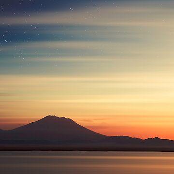 Volcano at Dawn - Gunung Agung Bali by DyrkWyst
