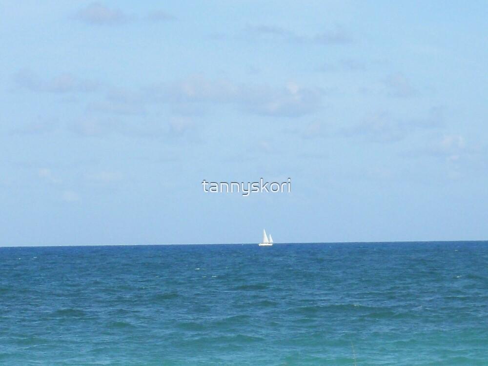sailing in the distance  by tannyskori