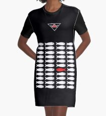 Swim Upstream T-Shirt Kleid