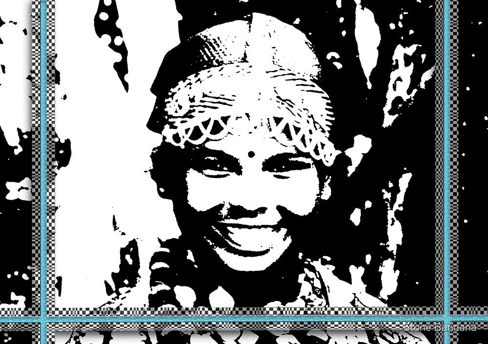 Darjeeling Girl with illusion frame  by Stone Bandana
